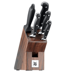WMF Messerblock mit Messerset 6-teilig Spitzenklasse Plus 4 Messer geschmiedet